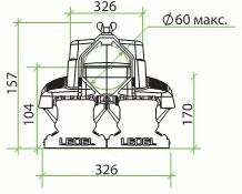 светодиодный уличный светильник L-STREET-48, Л-СТРИТ, ЭЛ-СТРИТ, габаритные размеры, схема, технические характеристики